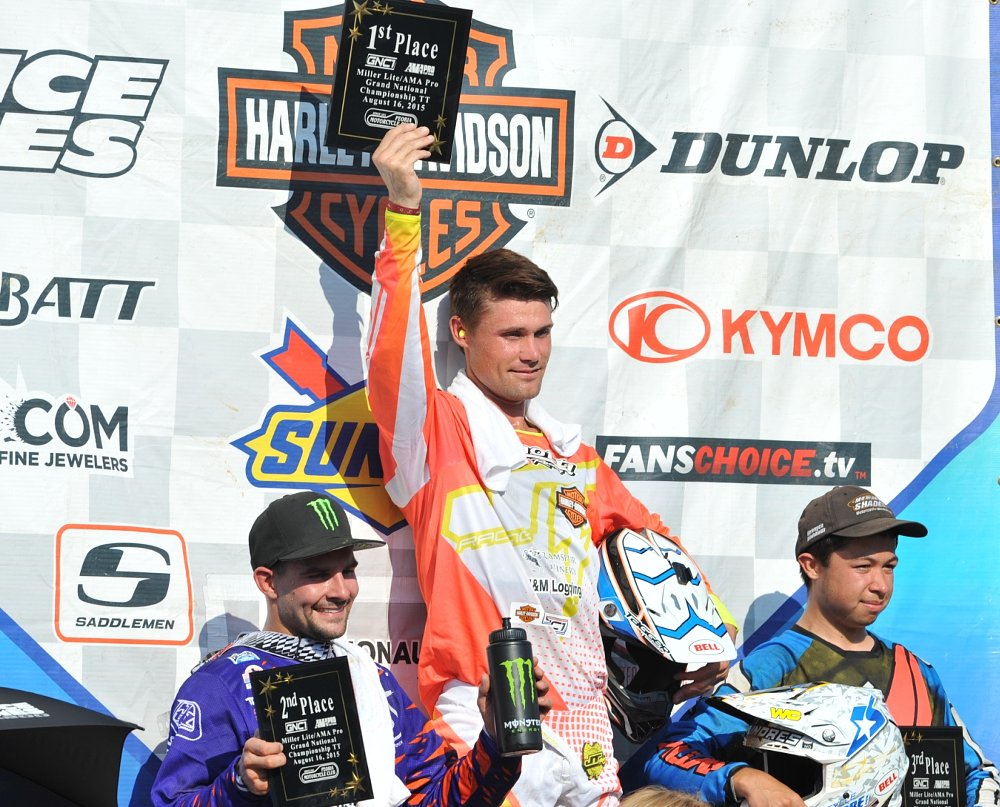 Henry Wiles wins the Peoria TT