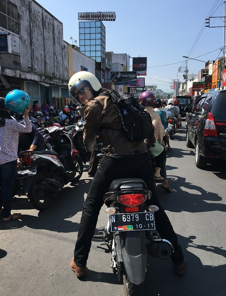 riding in Indonesia