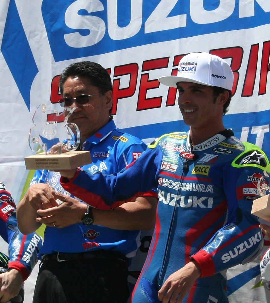 Toni Elias podium