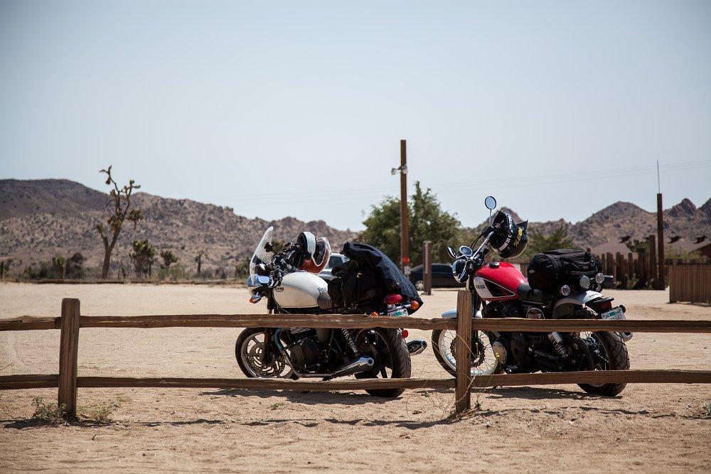 Yamaha SCR950 and Triumph Bonneville