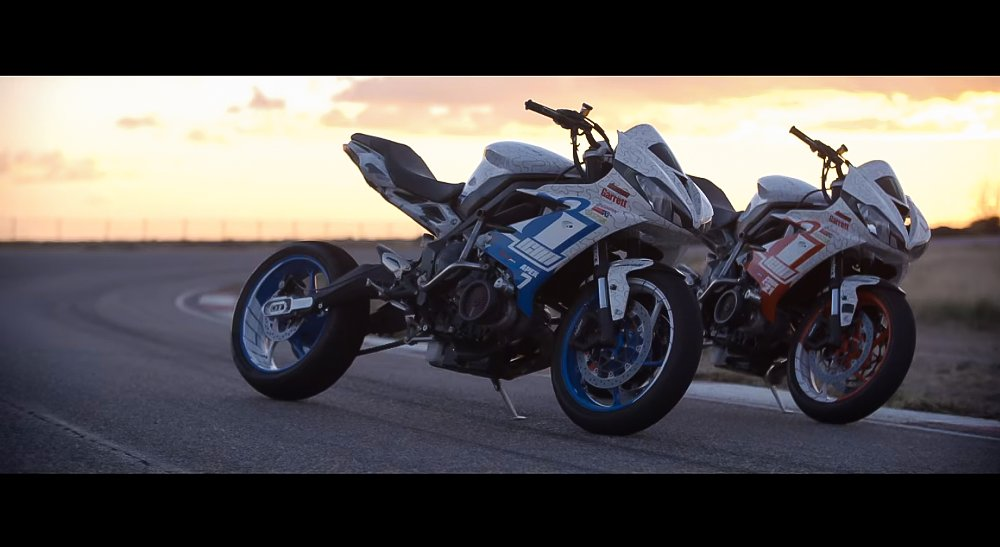 Video: Drifting a pair of 200-horsepower Triumph Street Triples