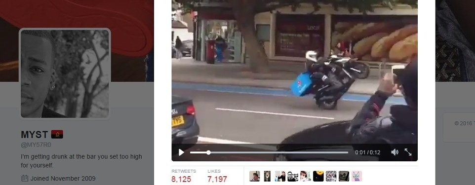 Video: Domino's not happy with wheelie fast delivery