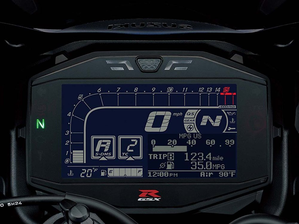 2017 Suzuki GSX-R1000 dash