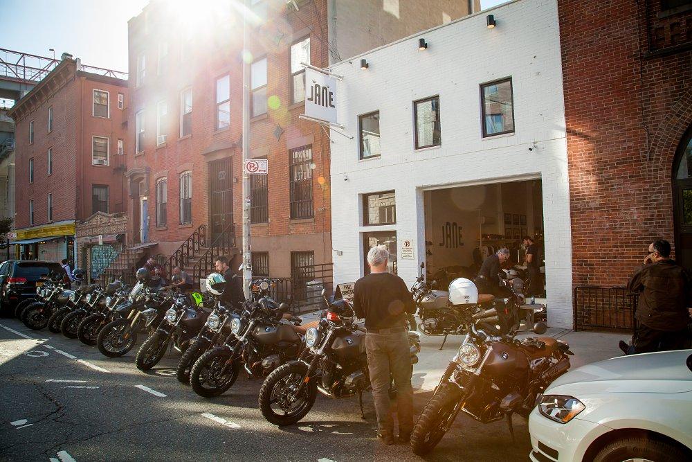BMW R nineT Scrambler and Jane motorcycles