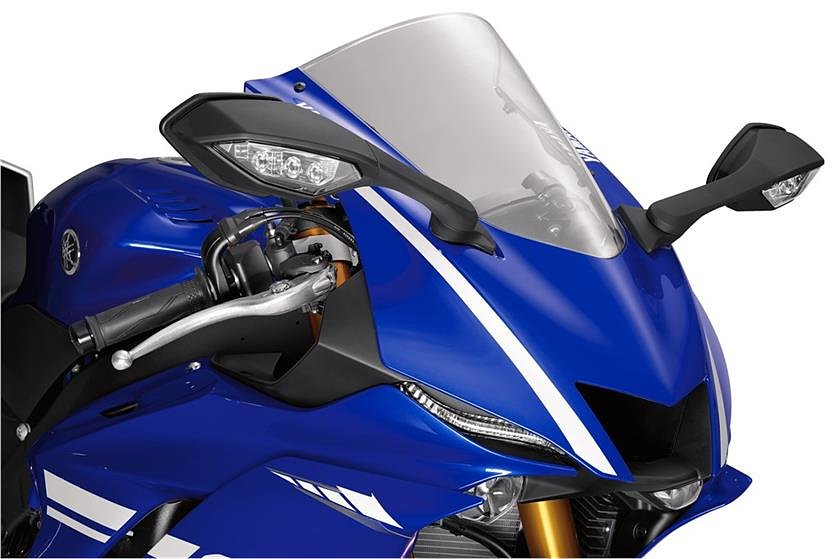 2017 yamaha yzf r6 first look for Yamaha r6 aftermarket mirrors