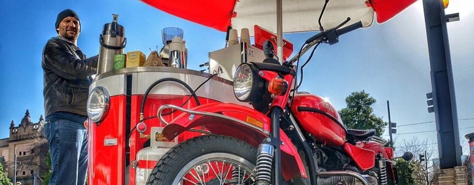 MotoKofe: A Ural-powered mobile espresso maker