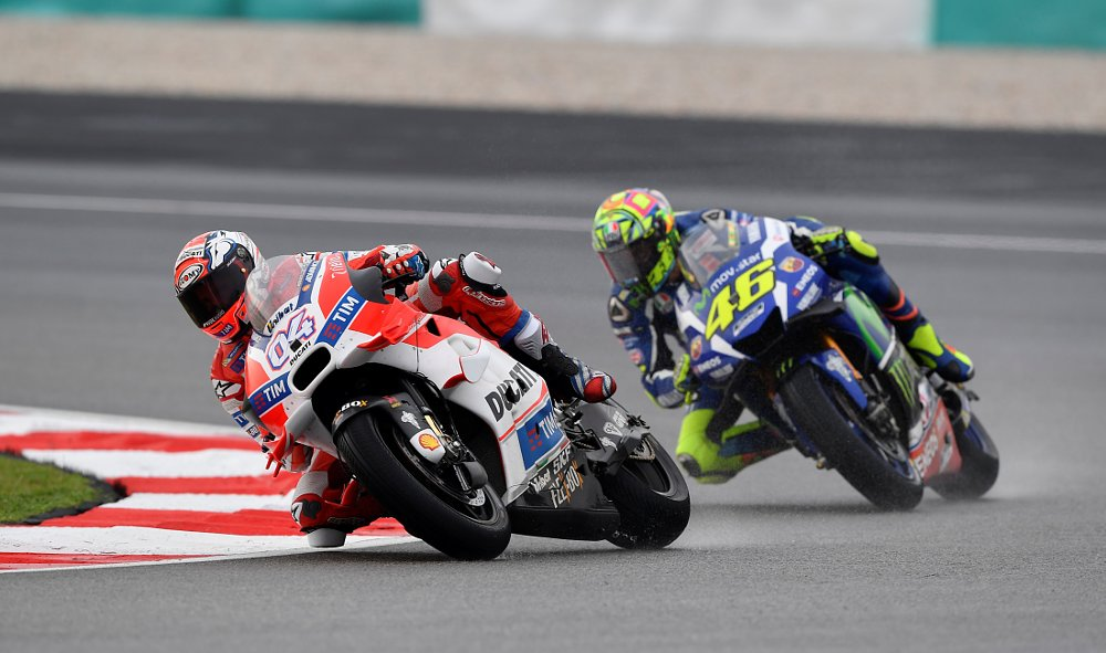 Andrea Dovizioso and Valentino Rossi at Sepang