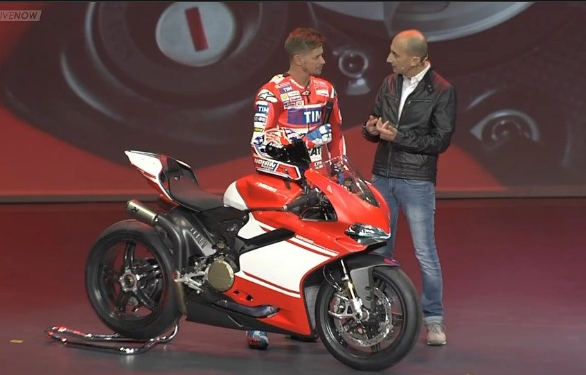 Casey Stoner and Claudio Domenicali