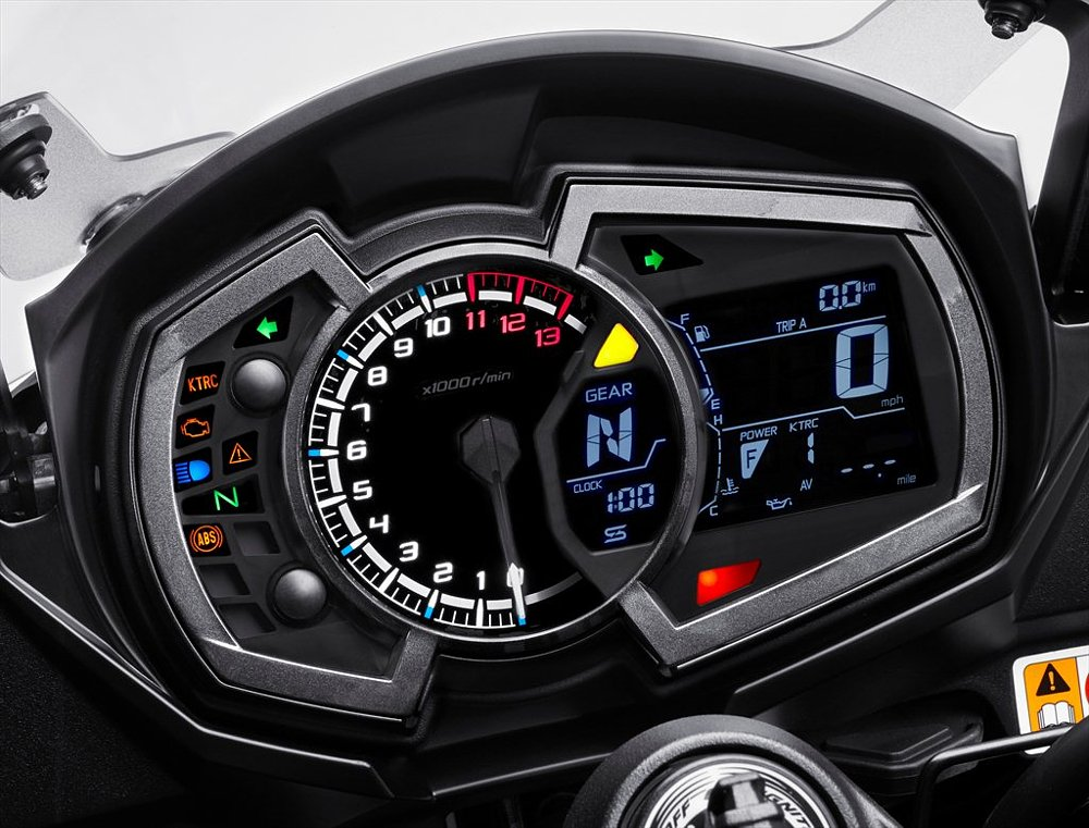 2017 Kawasaki Ninja 1000 instrument panel