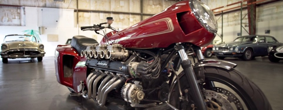 Video: A motorcycle with a Lamborghini V-12?