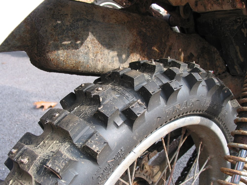 knobby tires with studs
