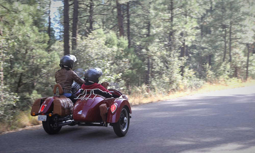 sidecar ride in Prescott National Forest