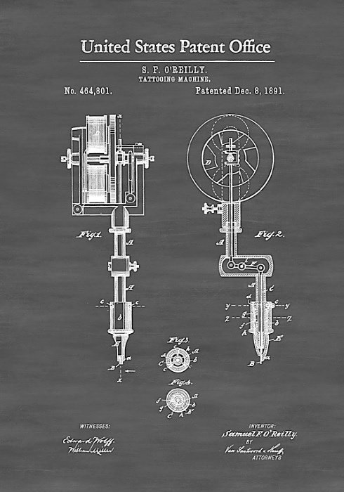 patent for tattoo machine