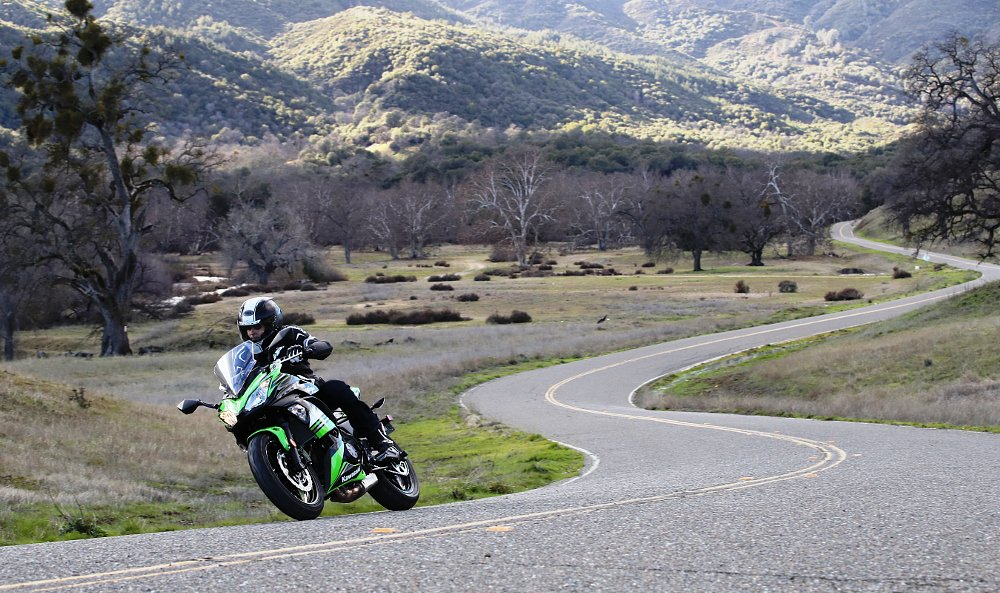 riding the 2017 Kawasaki Ninja 650