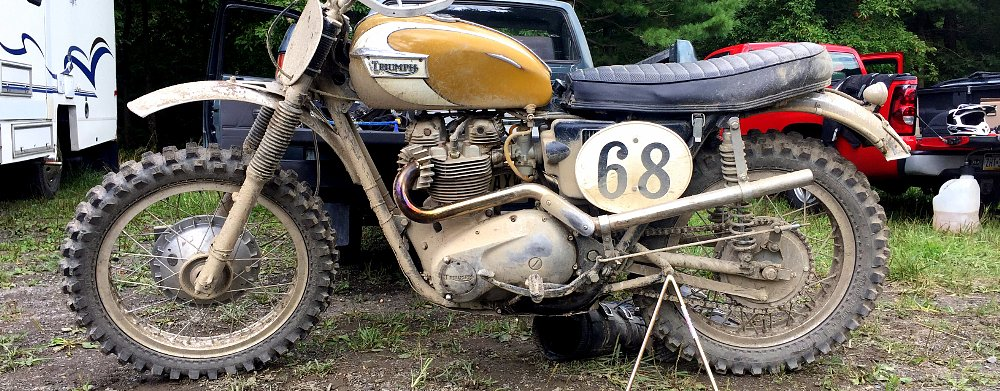 Inside ZLA: Our classic British expert takes a 1972 Triumph racing in the dirt