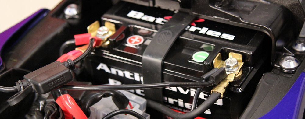 How to remove and install a motorcycle battery