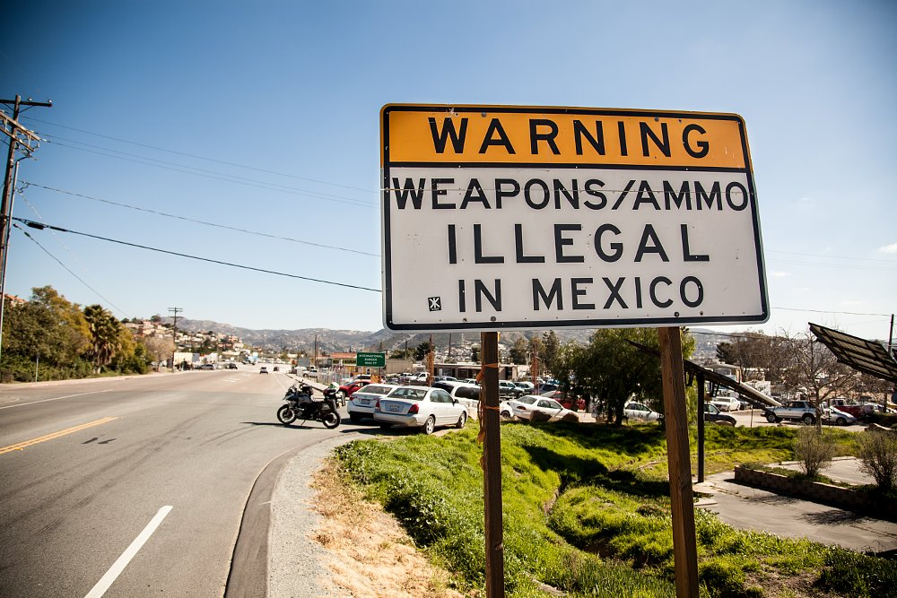 BMW R 1200 GS in Baja Tecate Border