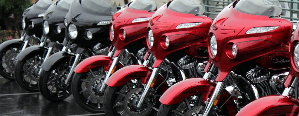 Bikes in a line