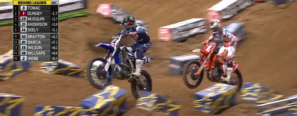 Chad Reed's penalty overshadows the Dungey-Tomac battle in Supercross