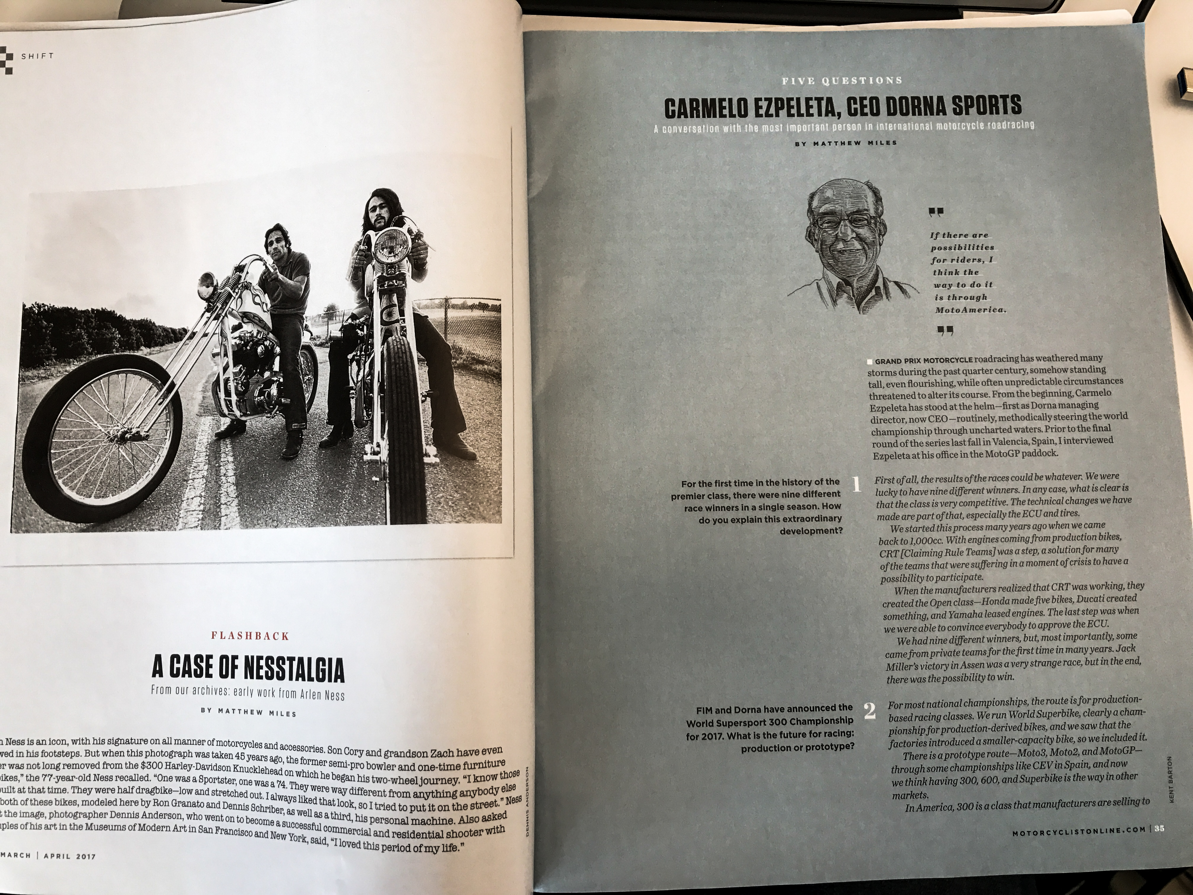 leanings 3 on the road and in the garage with cycle worlds peter egan