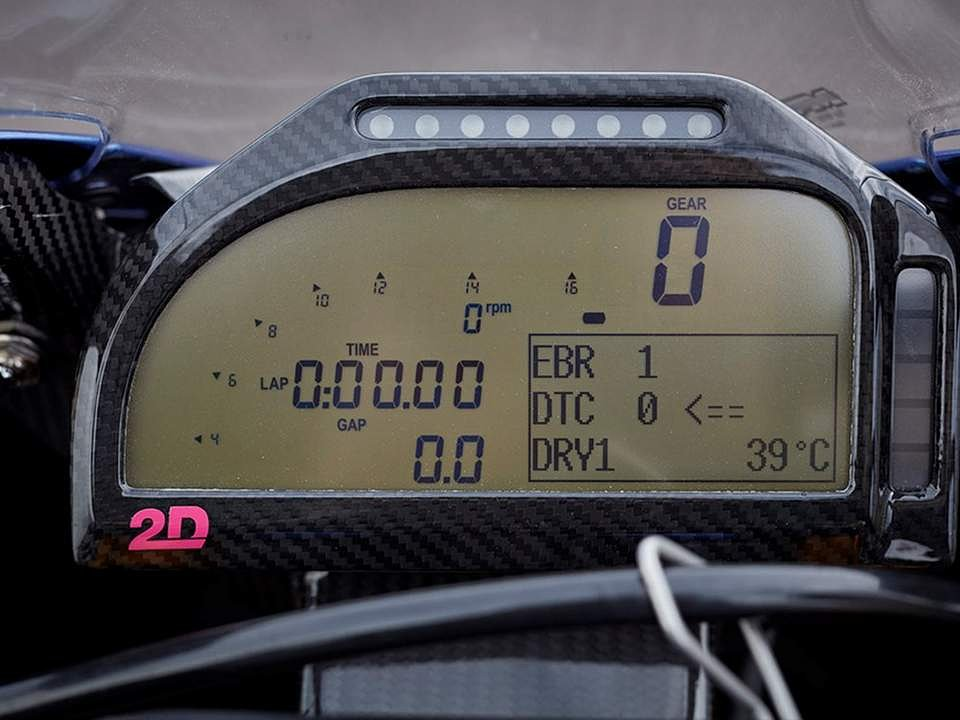 BMW HP4 Race dash
