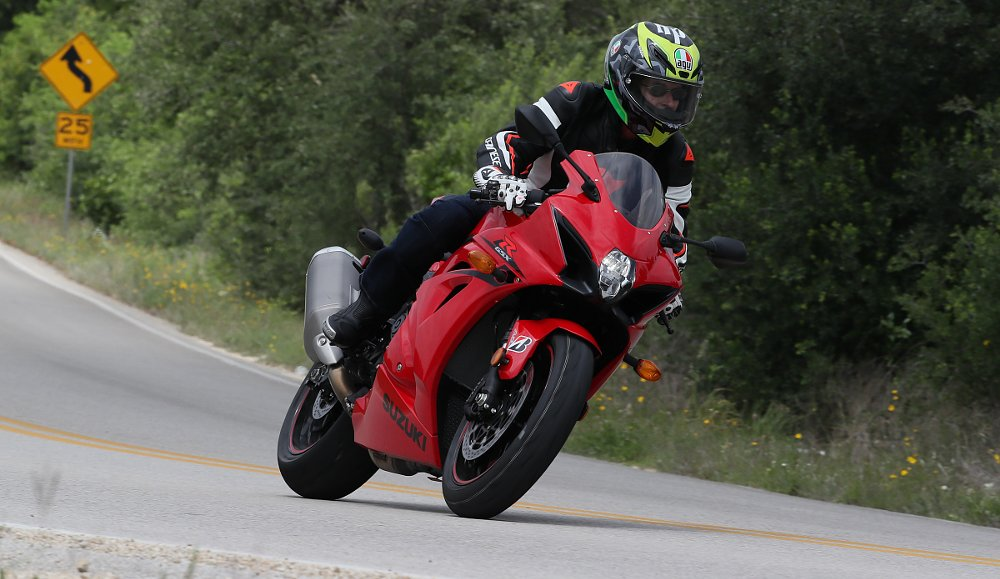 riding the GSX-R1000 in Texas
