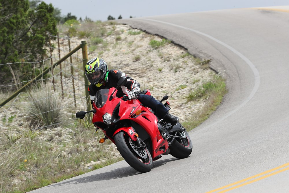 2017 Suzuki GSX-R1000 on the road in Texas