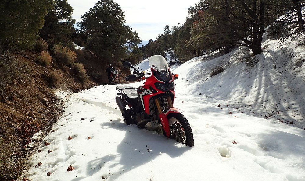 Africa Twin in snow