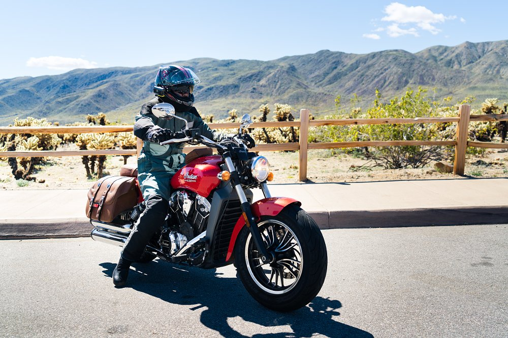 riding the Indian Scout