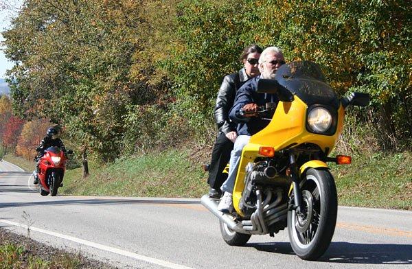 Suzuki Hayabusa and Honda CBX
