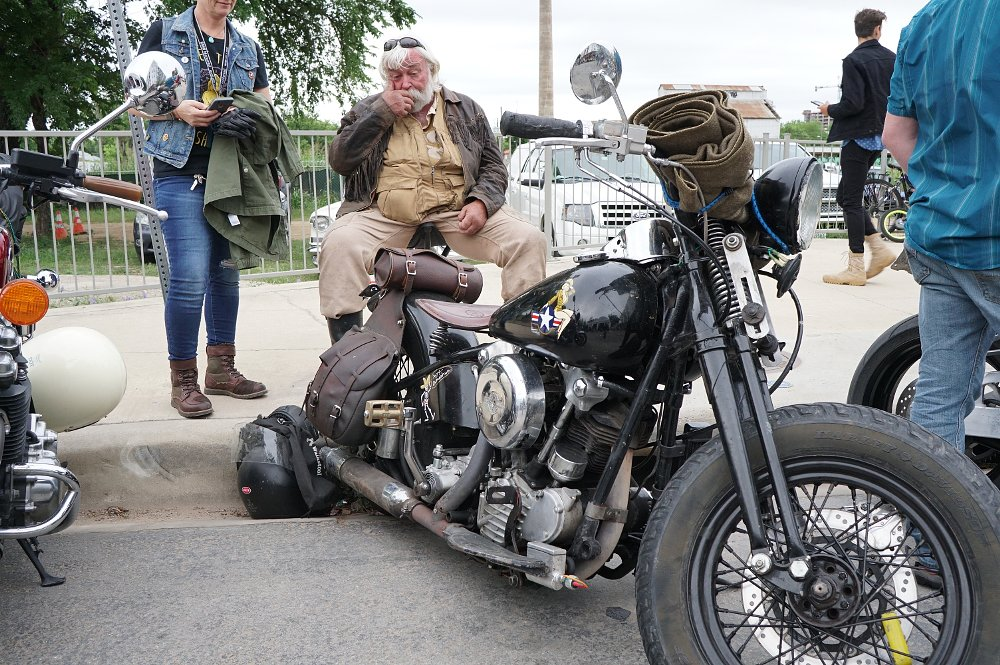 Randall Cater and his Knucklehead