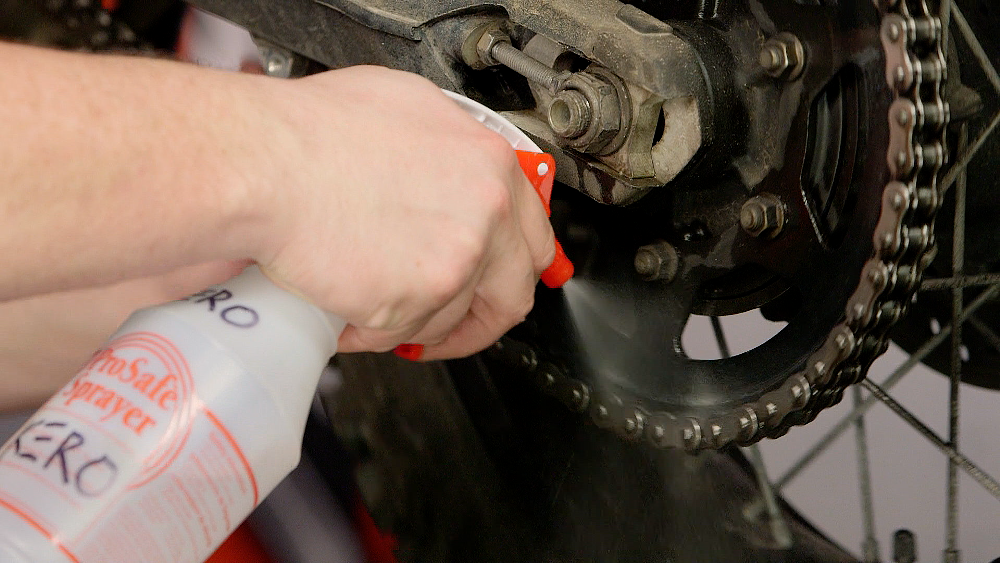 Motorcycle Chain Cleaning Spray