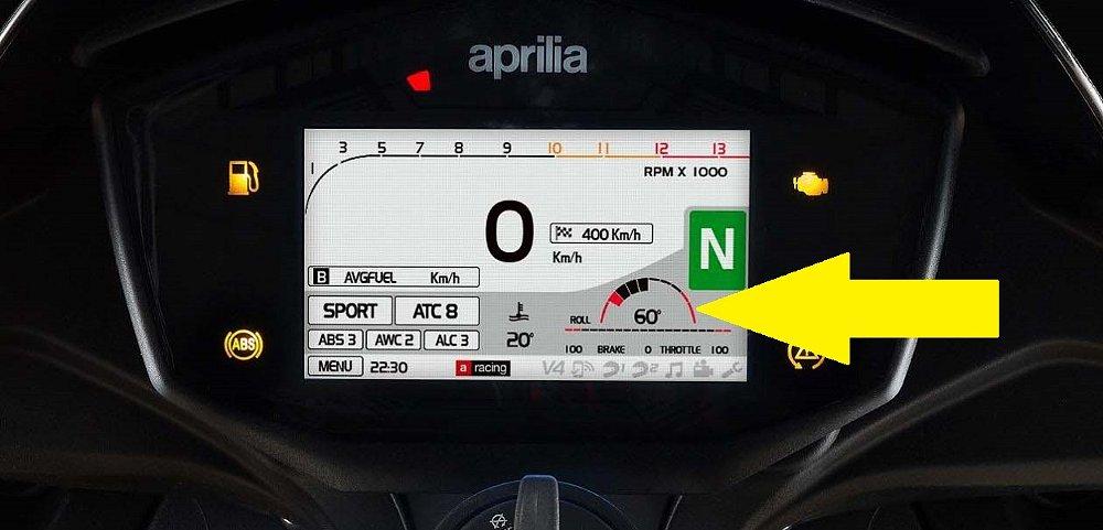 Aprilia roll meter