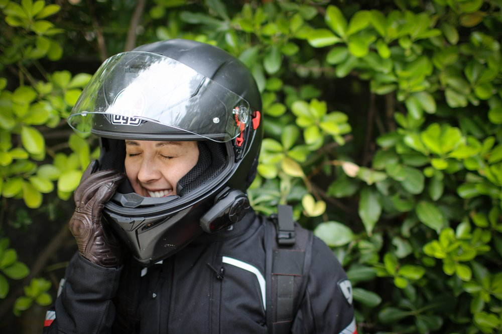 riding with an in-helmet communicator