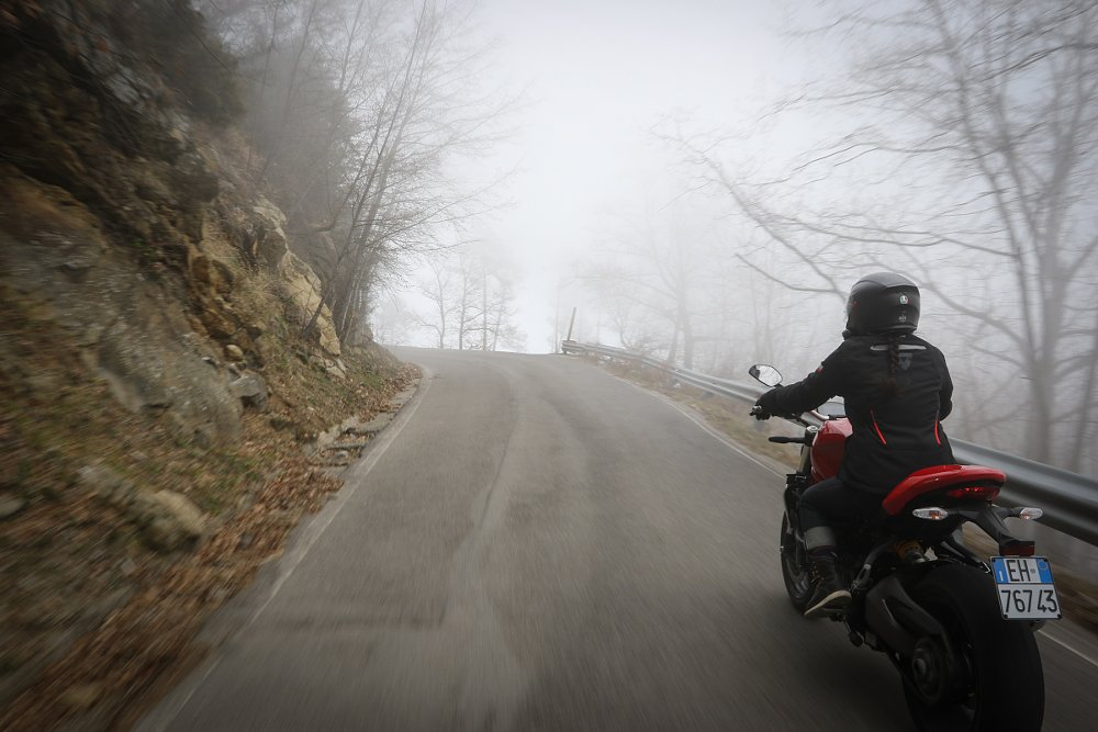 riding in fog