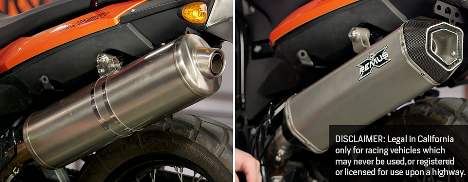 How to install motorcycle mufflers