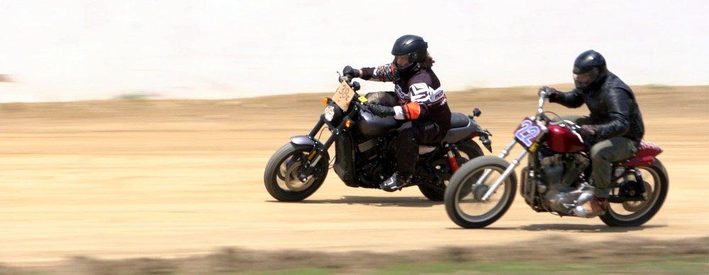 Ride it, break it, fix it: Lemmy takes a Harley Street Rod flat-track racing
