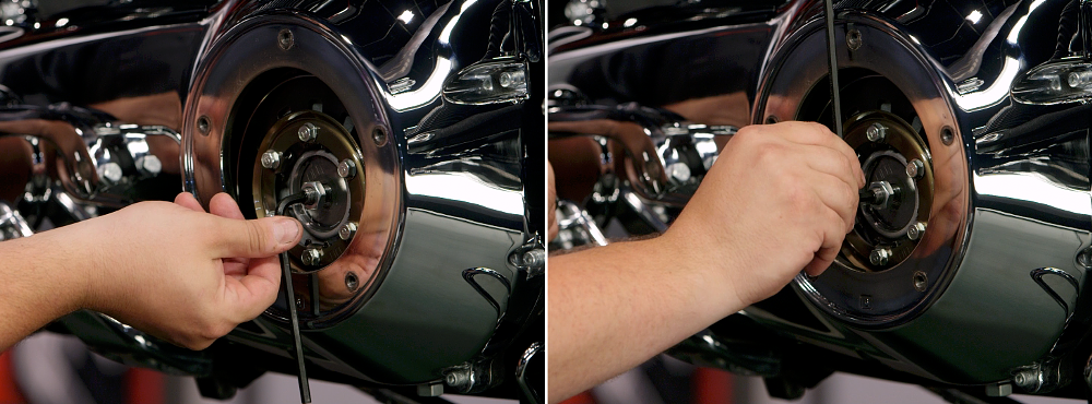 Turning a motorcycle clutch adjuster