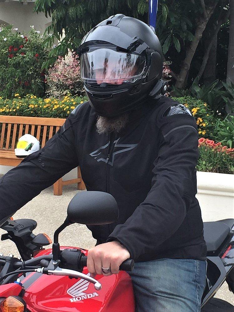 Ed Wildman and Arai DT-X helmet