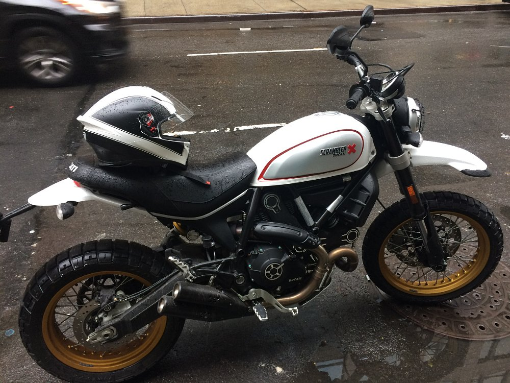 Ducati Scrambler Desert Sled in the city