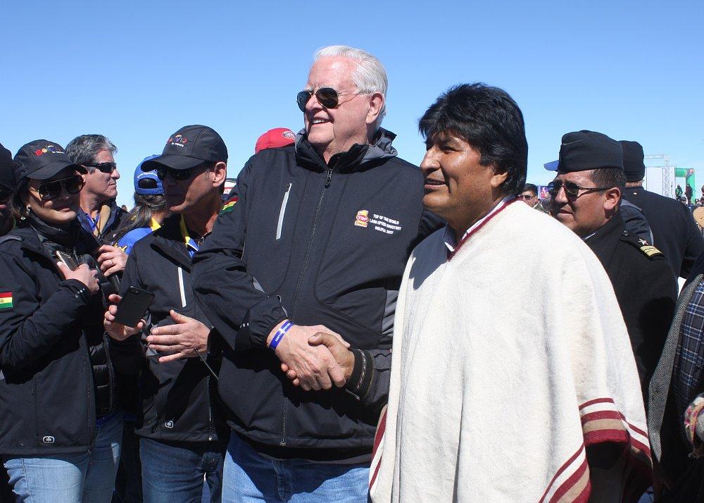 Mike Akatiff and President Evo Morales