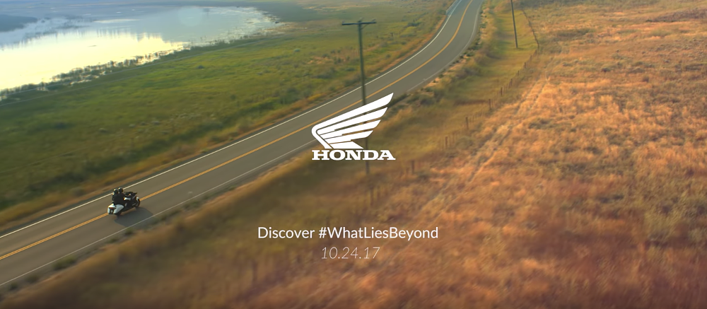 Honda issues a press release about a video about a motorcycle