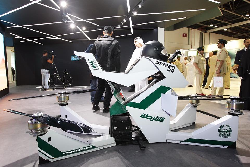 Dubai Police Force Flying Hoverbike