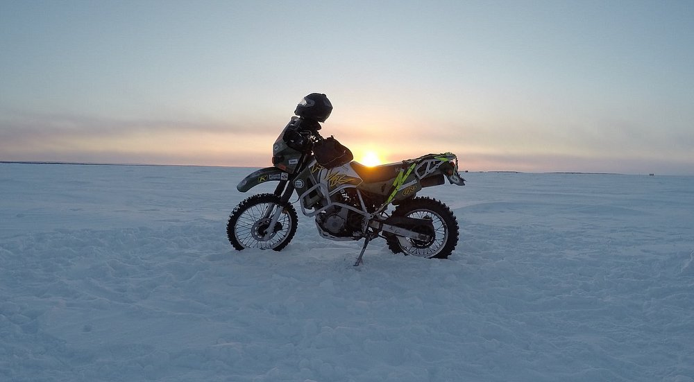 Ice road adventurer: Riding Canada's far north in winter