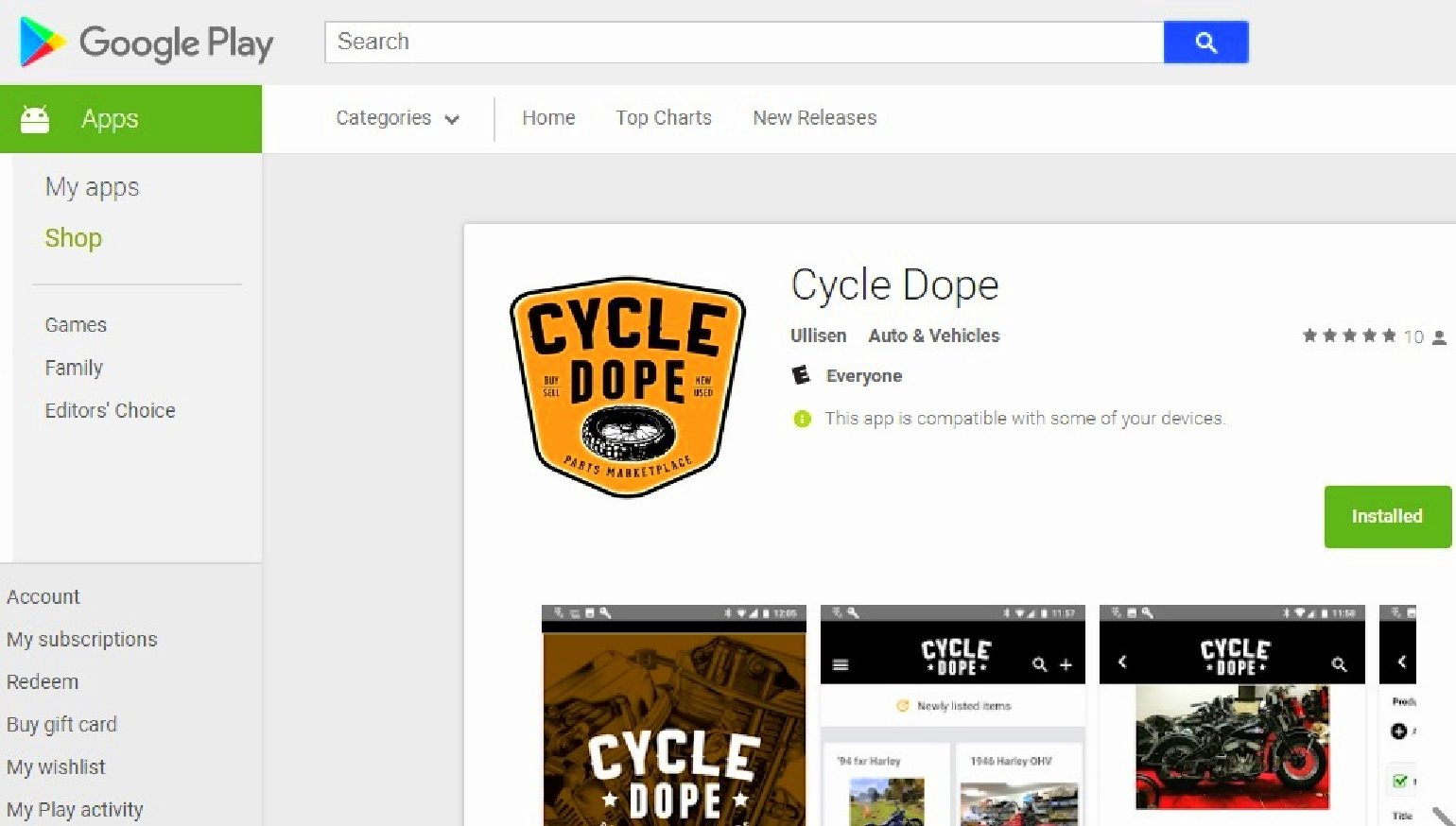 Cycle Dope is the best new way to buy and sell used motorcycle parts