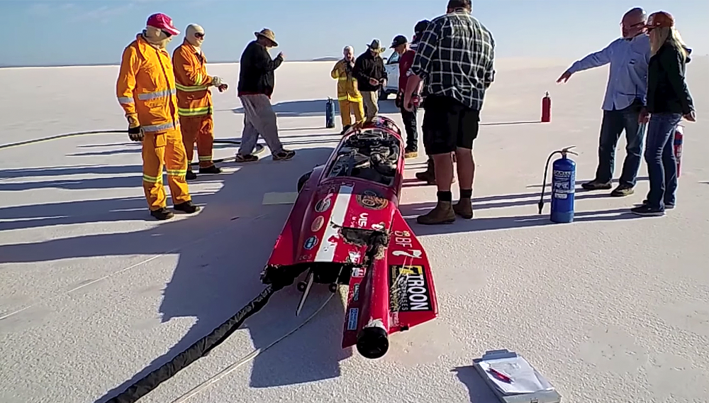 Video: Valerie Thompson survives 343 mph crash in world record attempt