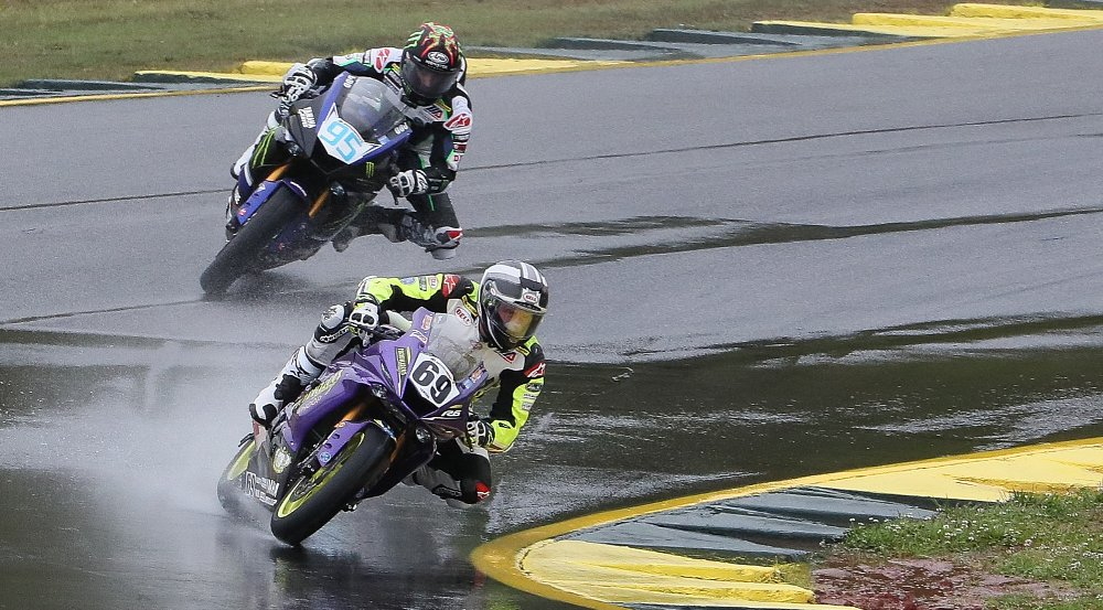 Elias reigns at Road Atlanta, rain or shine
