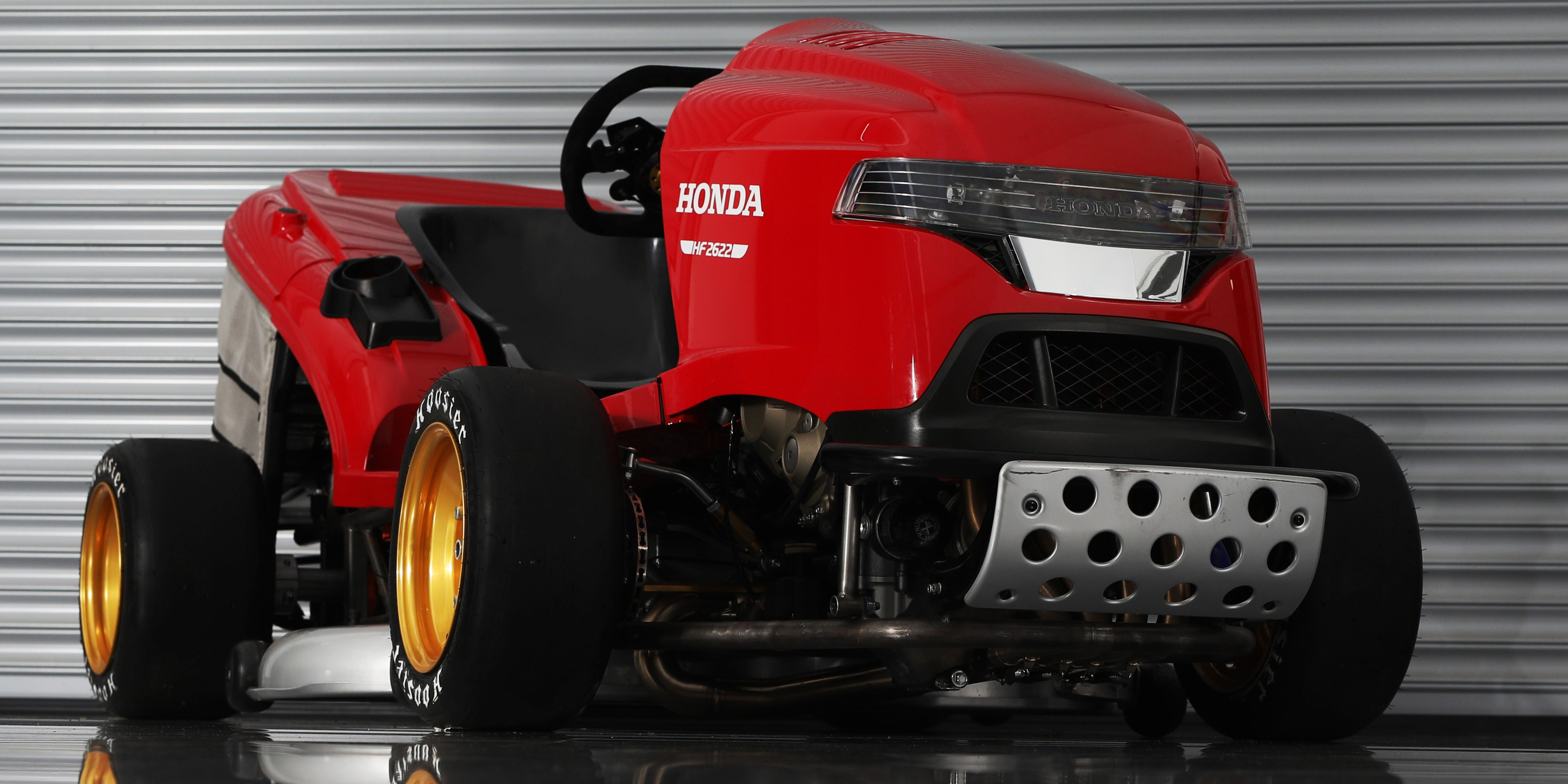 Honda Jammed A Cbr1000rr Engine Into Mower And Theyre Taking It Lawn Fuel Filter To Goodwood Revzilla
