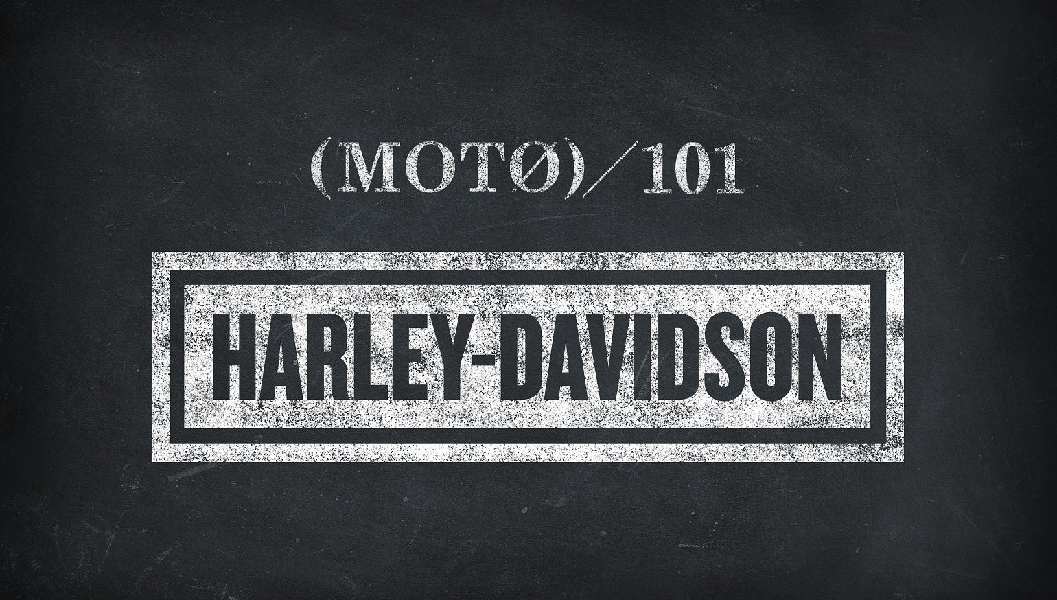 Moto 101: Learning your Harley ABCs   RevZilla