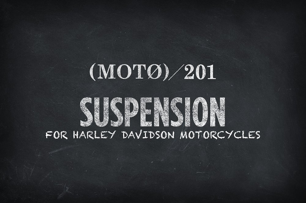 Harley Suspension 201